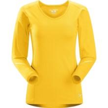 Arc'teryx Motus Crew Shirt - UPF 25, Long Sleeve (For Women) in Daffodil - Closeouts