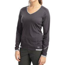 Arc'teryx Motus Crew Shirt - UPF 25, Long Sleeve (For Women) in Iron Anvil/Zircon - Closeouts