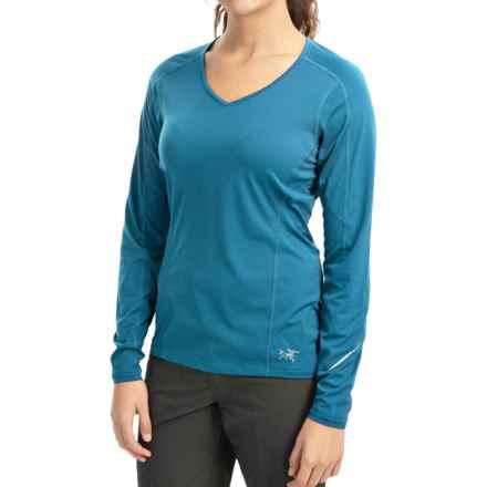 Arc'teryx Motus Crew Shirt - UPF 25, Long Sleeve (For Women) in Riptide - Closeouts