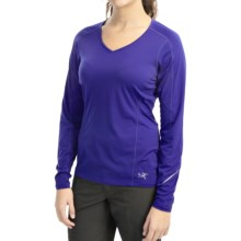 Arc'teryx Motus Crew Shirt - UPF 25, Long Sleeve (For Women) in Tanzanite - Closeouts