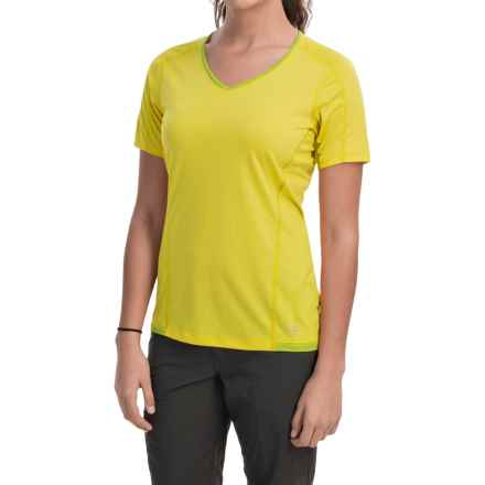 Arc'teryx Motus Crew Shirt - UPF 25, Short Sleeve (For Women) in Lemon Zest - Closeouts