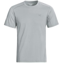 Arc'teryx Motus Crew T-Shirt - UPF 25, Short Sleeve (For Men) in Silver Lining - Closeouts