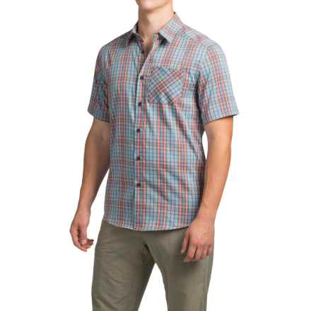 Arc'teryx Pathline Shirt - Short Sleeve (For Men) in Iso Blue - Closeouts