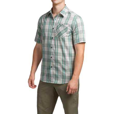Arc'teryx Pathline Shirt - Short Sleeve (For Men) in Luna Stone - Closeouts