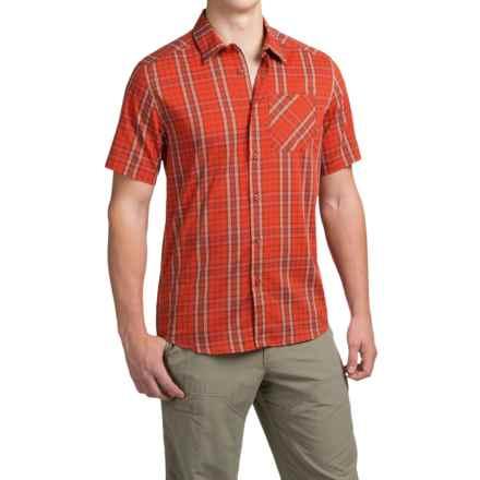 Arc'teryx Pathline Shirt - Short Sleeve (For Men) in Rojo - Closeouts