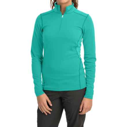Arc'teryx Phase SV Base Layer Top - Zip Neck, Long Sleeve (For Women) in Patina Teal - Closeouts