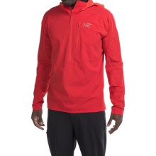 Arc'teryx Psiphon SL Soft Shell Jacket - Zip Neck (For Men) in Diablo Red - Closeouts