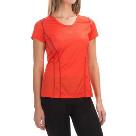 Arc'teryx Sarix Shirt - Short Sleeve (For Women) in Race Pace Red - Closeouts
