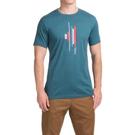 Arc'teryx Slabs T-Shirt - Short Sleeve (For Men) in Blue Smoke - Closeouts