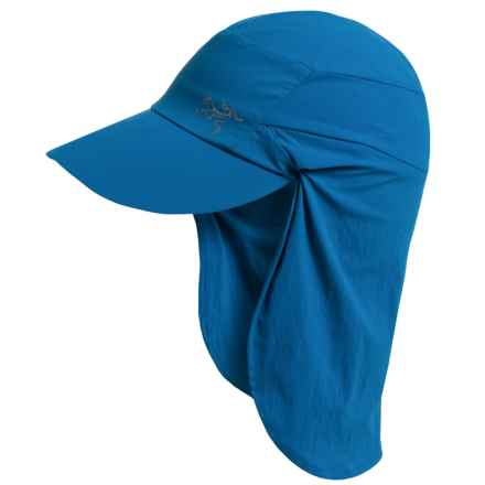 Arc'teryx Spiro Hat with Shade - UPF 50+ (For Men and Women) in Borneo Blue - Closeouts