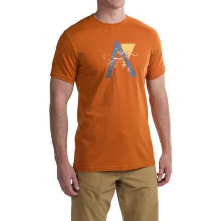 Arc'teryx Stack T-Shirt - Crew Neck, Short Sleeve (For Men) in Rusted Copper - Closeouts