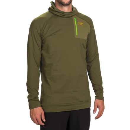 Arc'teryx Stryka Hooded Base Layer Shirt - Long Sleeve (For Men) in Utility Green - Closeouts