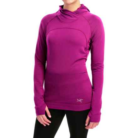 Arc'teryx Thaleia Polartec® Power Dry® Fleece Hoodie (For Women) in Violet Wine - Closeouts