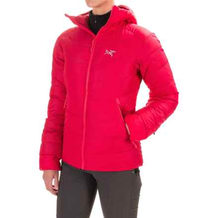 Arc'teryx Thorium SV Down Hooded Jacket - 750 Fill Power (For Women) in Flamenco - Closeouts