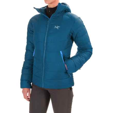 Arc'teryx Thorium SV Down Hooded Jacket - 750 Fill Power (For Women) in Poseidon - Closeouts