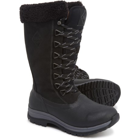 Arctic Apres Lace Tall Boots - Waterproof, Insulated (For Women) - BLACK (8 )