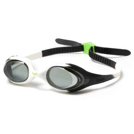 Arena Spider Jr. Swim Goggles (For Youth) in Black/White/Clear - Closeouts