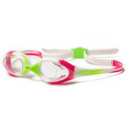 Arena Spider Jr. Swim Goggles (For Youth) in Lime Fuchsia/White/Clear - Closeouts