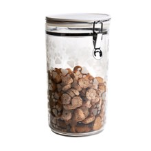 """Argento Dog Treat Jar - 10"""" in Paws White - Closeouts"""