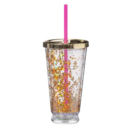 Argento LED Glitter Cup - 16 oz. in Gold