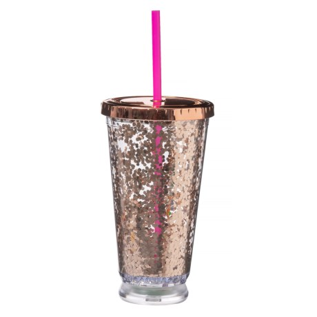 Argento LED Glitter Cup - 16 oz. in Rose Gold