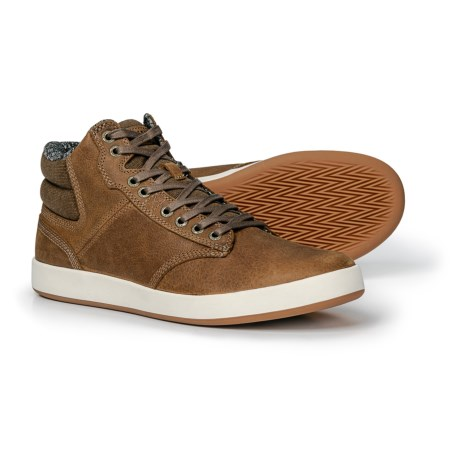 Image of Argus Mid-Cut Leather Sneakers (For Men)