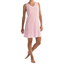 Aria Cotton-Blend Chemise - Sleeveless (For Women) in Pink Black Rose - Overstock