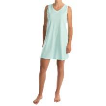 Aria Cotton-Blend Chemise - Sleeveless (For Women) in White/Green - Overstock