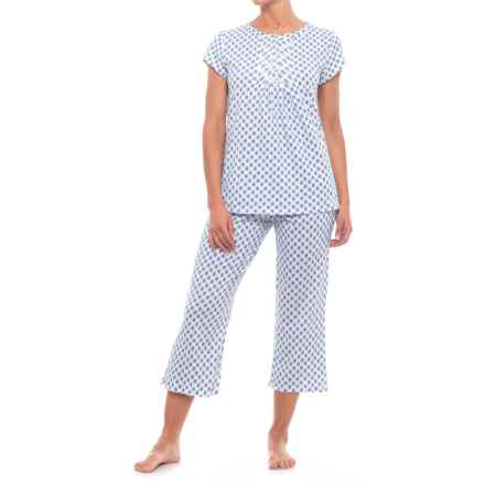 3bf1134434fb Aria Long Pajamas - Short Sleeve (For Women) in Wht Dprt - Closeouts