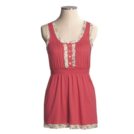 Arianne Knit Tank Top - Cotton-Modal (For Women) in Cherry