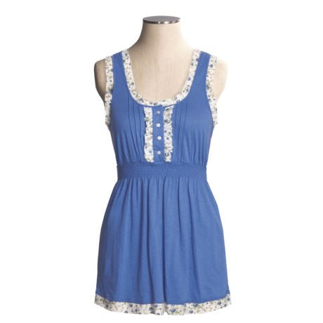Arianne Knit Tank Top - Cotton-Modal (For Women) in Periwinkle