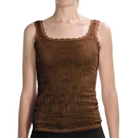 Arianne Olivia Lace Camisole - Fully Lined (For Women) in Cocoa