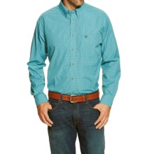 Ariat Aberdeen High-Performance Plaid Shirt - Long Sleeve (For Men and Tall Men) in Turquoise - Closeouts