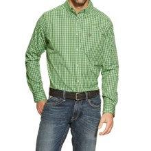 Ariat Ace High-Performance Check Shirt - Long Sleeve (For Men) in Isla Verde - Closeouts
