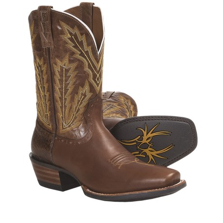 Ariat Adriano Moraes Cowboy Boots - Square Toe (For Men) in Dappled Brown/Quatrz