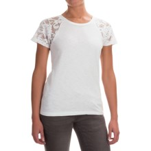 Ariat Alaina Crochet Lace Shirt - Short Sleeve (For Women) in White - Overstock