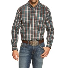 Ariat Alec Plaid Shirt - Long Sleeve (For Men) in Dark Chocolate - Closeouts