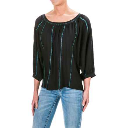 Ariat Ali Rayon Shirt - 3/4 Sleeve (For Women) in Black - Closeouts
