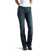 Ariat Amber Frayed-Edge Relaxed Jeans - Bootcut, Low Rise (For Women) in Starlight - Closeouts