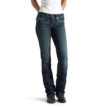 Ariat Amber Frayed Edge Relaxed Jeans Bootcut, Low Rise (For Women)