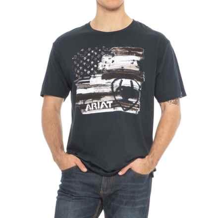 Ariat Americana T-Shirt - Short Sleeve (For Men) in Navy - Overstock