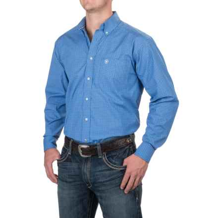 Ariat Andy Shirt - Button Front, Long Sleeve (For Men) in Neoprene Blue - Closeouts