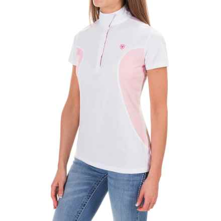 Ariat Aptos Liberty Show Shirt - Short Sleeve (For Women) in White/Blossom - Closeouts