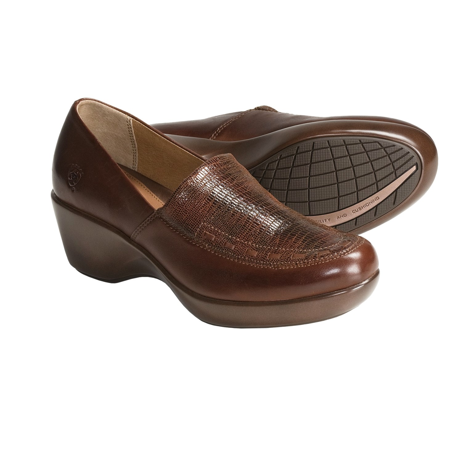 Ariat Arch Leather Shoes - Slip-Ons (For Women) in Cinnamon