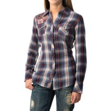 Ariat Ashley Plaid Western Shirt - Snap Front, Long Sleeve (For Women) in Blue/Red - Closeouts