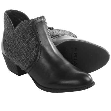 Ariat Astor Leather Ankle Boots (For Women) in Storm Grey Santiago - Closeouts