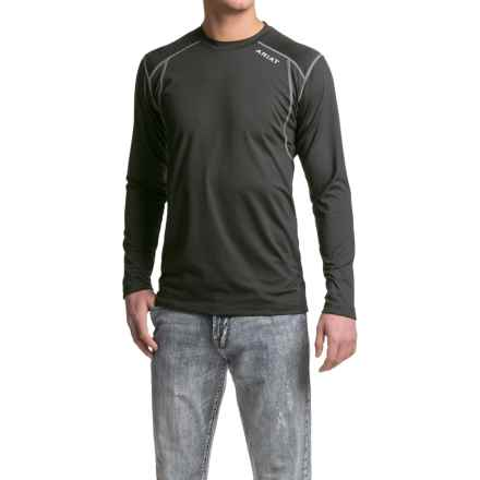 Ariat Backcountry Tek Shirt - Long Sleeve (For Men) in Black - Closeouts
