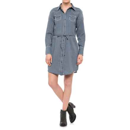 Ariat Bergen Shirt Dress - Long Sleeve (For Women) in Darkest Indigo - Closeouts