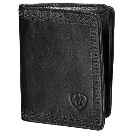Ariat Bifold Flip-Case Wallet - Leather (For Men) in Black - Closeouts
