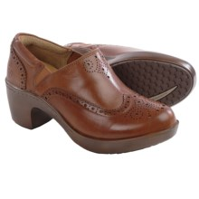 Ariat Bradford Leather Clogs - Brogue (For Women) in Cognac - Closeouts